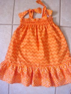 Orange Chevron Infants Toddlers Girls Double by BeeBeesBoutique, $29.00
