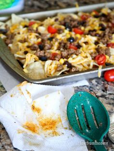 You can make easy and delicious NACHOS at home! Check out this recipe with step by step video to create nachos your friends and family will love! Mexican Dishes, Mexican Food Recipes, Mexican Meals, Filipino Recipes, Dip Recipes, Beef Recipes, Yummy Recipes, Vegan Recipes, Beef Fajita Nachos Recipe
