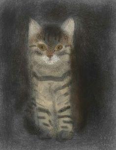 shozo ozaki artist | Shozo Ozaki | Ideas for Painted Cats Rocks | Pinterest