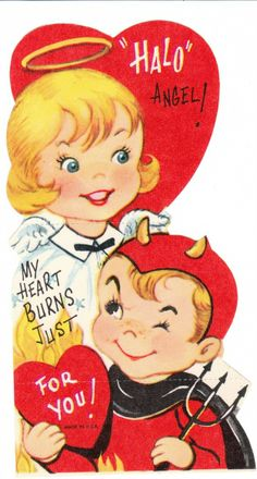 Opposites Attract | Community Post: 26 Vintage Valentine's Cards That Will Warm Your Heart.