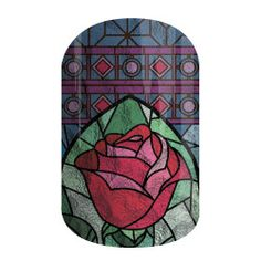 Look Deeper | Jamberry 'Look Deeper' depicts the iconic Enchanted Rose in a stained-glass pattern that could only be described as magical.