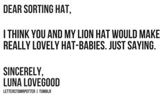 Lovely hat-babies.