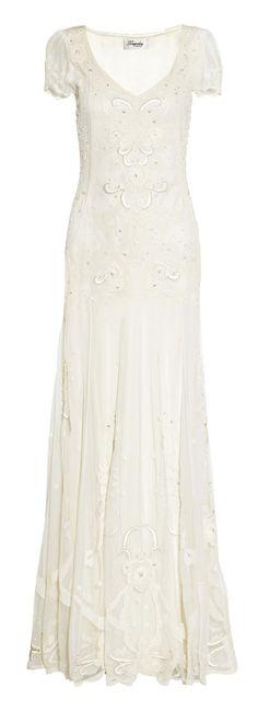 3cac484068a5 Temperley London - Long Elisha silk-blend appliquéd tulle gown