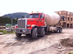 Big twin-steer mixer truck from Western Concrete in Chilliwack, BC Dump Trucks For Sale, New Trucks, Truck Mud Flaps, Cement Mixer Truck, Truck Games, Concrete Mixers, Peterbilt Trucks, Heavy Truck, Commercial Vehicle