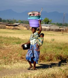 Strength of a woman. Malawi, Africa