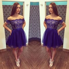 Charming Prom Dress,Elegant Prom Dress, Lace Prom Party