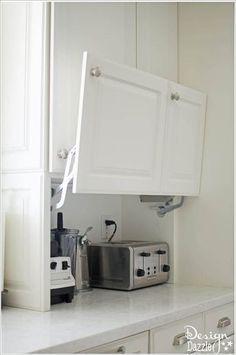Kitchen Storage Solutions, Diy Kitchen Storage, Home Decor Kitchen, Interior Design Kitchen, Kitchen Furniture, Smart Storage, Storage Ideas, Kitchen Organization, Hidden Storage