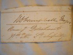 "Signature: "" Campbell - Major Commanding Detachment - 71st Highland Light Infantry "" - Crimean Campaign"