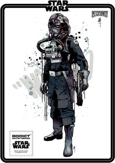 Star Wars x Addict Clothing x Mitchy Bwoy signature series. 7 colour screen-prints (except 2 colour outline variations). Official Lucasfilm product. Series 2, 3 & 4 shown here.