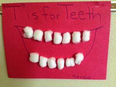 Kindergarten and Mooneyisms: T is for Teeth - SOFİE Letter T Crafts, Letter T Activities, Preschool Letter Crafts, Abc Crafts, Alphabet Crafts, Daycare Crafts, Preschool Lessons, Preschool Learning, Toddler Crafts