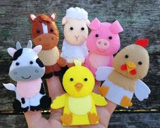 Safari animals felt games finger puppets felt toy baby monkey toy First birthday gift Learning toddler toys montessori New baby gift Felt Puppets, Puppets For Kids, Felt Finger Puppets, Farm Animal Toys, Farm Toys, Felt Crafts, Fabric Crafts, Felt Games, Mickey Mouse Costume