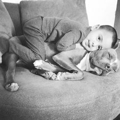 27 Dogs That will Do Anything for Kids--i can't wait to see our puppy with the baby!