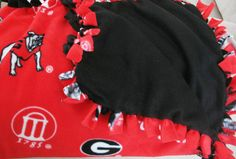 NEW Handmade NCAA UGA Georgia Bulldogs Red & by BlanketsOfLaughter, $35.00