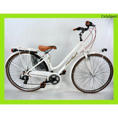 Bicicletta City Bike 28 Retrò Alluminio 21V Donna CicloSport Bianco    Link : http://shop.ciclosport.cr.it/bici-complete/citybike/bicicletta-city-bike-28-retr-alluminio-21v-donna-ciclosport-bianco