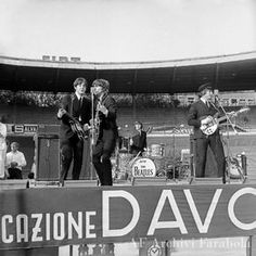 June 1965 The Beatles played two shows on this day at the Veledromo Vigorelli. The Beatles Live, Kinds Of Dance, Liverpool England, Beatles Photos, The Fab Four, Yellow Submarine, Like Animals, George Harrison, Paul Mccartney