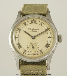 J W BENSON LONDON SMITHS MADE IN ENGLAND ROMAN NUMERAL DIAL DENNISON AQUATITE… We Watch, Roman Numerals, Will Smith, England, Range, London, Watches, Accessories, Cookers