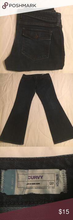 """Gap Stretch Curvy Bootcut Jean Gap Stretch Curvy Bootcut Jean with Approx 27"""" Inseam GAP Jeans Boot Cut"""