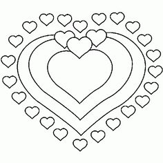 Double hearts there 39 s 2 single hearts on post too images to color miscellaneous - Coeur de st valentin a imprimer ...