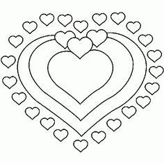 Un coloriage de coeur pour la saint valentin - Coloriages de la Saint Valentin à imprimer