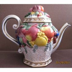 Fitz and Floyd Classics Handcrafted China TEAPOT