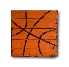 Basketball Wall Art / Sports Decor / Rustic Vintage Basketball Sign