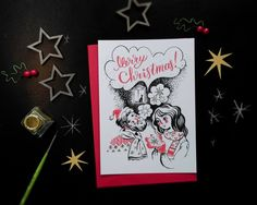 Baby it's cold outside  giclee print by SashaLovesInk on Etsy  #christmas #Xmas #giftideas #christmascards #merry #happy #cute #together #us #etsy #handmade
