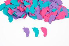 Baby Girl Shower Decoration Footprint by PassTheScissorsShop, $8.00