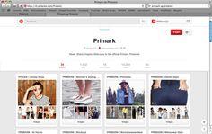 Primark op Pinterest https://nl.pinterest.com/Primark/ Primark heeft haar website overzichtelijk opgericht. Mannen en vrouwen staan apart. hiernaast zien we ook nog een duidelijk verschil tussen de verschillende soorten outfits die men kan dragen. Zo kunnen klanten meteen gericht zoeken.