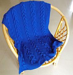 Hand made knit baby blanket; blanket for the stroller;