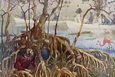 Seminole Wars-(Florida Wars)-(photo-Seminole War in Everglades)--WIKI-history