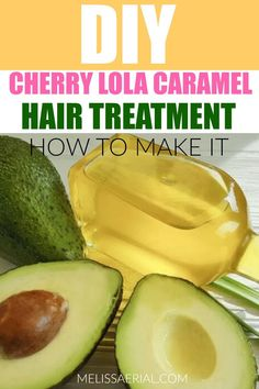 How to make the cherry lola hair treatment on your natural hair. #hairtreatment Caramel Hair Treatment, Maximum Hydration Method, Lola Hair, Natural Hair Treatments, Avocado, Natural Hair Styles, How To Make, Food, Meal