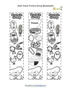 Bookmarks Coloring Vegetable Food Group Activity - Chef ...