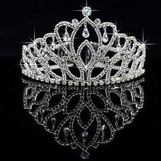 Gorgeous Alloy With Czech Rhinestones Wedding Tiara – USD $ 17.99