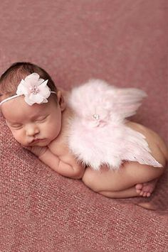 CCW202 Pink Headband Angel Wings Baby Prop Wings - LAST CALL