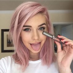 amanda steele pink hair - Google Search this pink is cute! Don't know if I'd…
