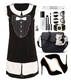 """""""Black and white"""" by simona-altobelli ❤ liked on Polyvore featuring Lord & Berry, Kate Spade, STELLA McCARTNEY, Chanel and Givenchy"""