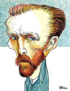 Vincent van Gogh foi um pintor pós-impressionista holandês. Sua produção inclui retratos, autorretratos, paisagens e naturezas-mortas de ciprestes, campos de trigo e girassóis.