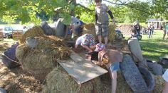 Anarchy Zone: one, TV: zero. here's a glimpse at some of the funky fort building happening at the Anarchy Zone at the Ithaca Children's Gard...