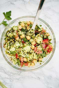 Zucchini Rice Tabbouleh with Chickpeas   Inspiralized   Bloglovin'