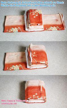 Bettwäsche praktisch aufbewahren - spart Zeit und sorgt für Ordnung im Schrank …