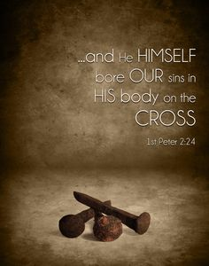 1 Peter (NASB) - and He Himself bore our sins in His body on the cross, so that we might die to sin and live to righteousness; for by His wounds you were healed. Biblical Verses, Scripture Verses, Bible Verses Quotes, Bible Scriptures, Faith Quotes, Jesus Paid It All, Easter Quotes, God Jesus, Jesus Christ