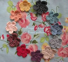 """Crochet - Free Pattern: """"Forget me not"""" - Level: easy."""