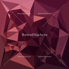 Dark Raspberry Red Abstract Low Polygon Background Vector Stock Illustration.  Low polygon style illustration of a dark raspberry red abstract geometric background. #illustration  #DarkRaspberryRedAbstract
