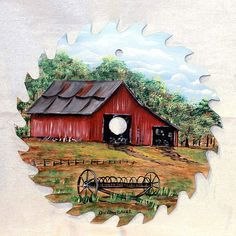 free images to paint on sawblades   Hand Painted Saw Blade by Dorothy Baker   Flickr - Photo Sharing!