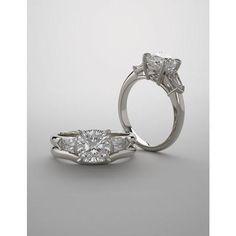 Forever One Moissanite 1.33tcw 6mm Cushion Cut 14k White Gold Engagement Ring Wedding Set Bridal