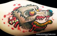 Old School Wolf Tattoo Flash Wolf head tattoo Werewolf Tattoo, Head Tattoos, Tattoos Gallery, Old School, Tattoo Flash, Custom Design, January, Colour, Tattoo Ideas