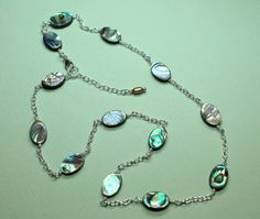 Abalone Shell Necklace Peacock Abalone Shell by CaveGemstones, $42.00