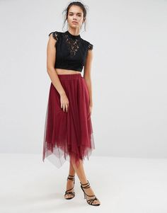 4d78e78a7e Boohoo Layered Full Tulle Midi Skirt. Faldas De ...