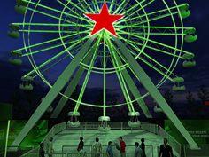 Projeção de roda-gigante da Heineken no Lollapalooza 2013