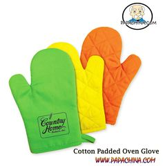 Cotton Padded Oven Glove, a dynamic product that delivers some of the great features like heat insulation, hanging loop, cotton fabric, trimmed and helps in promoting your logo through the product with wide range of facilities among your customers.